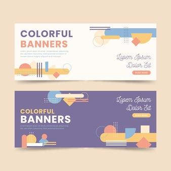 Modelos de design de banners coloridos