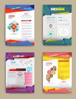 Modelos de design de brochura