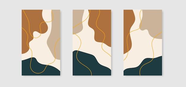 Modelos de design de capa criativos abstratos para histórias de mídia social
