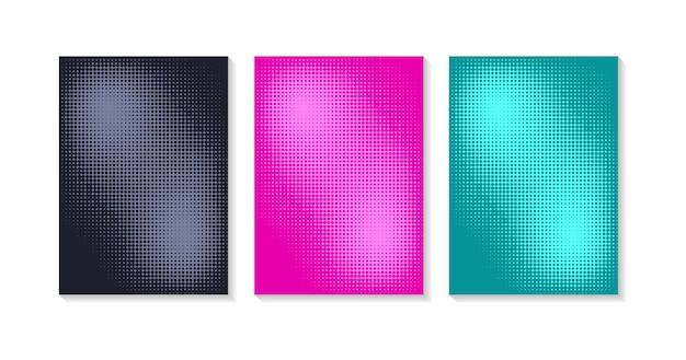 Modelos de design de capa minimalista conjunto de layouts para capas de livros, álbuns, cadernos, relatórios