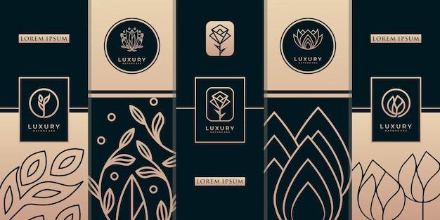 Modelos de design de embalagem de ouro de luxo