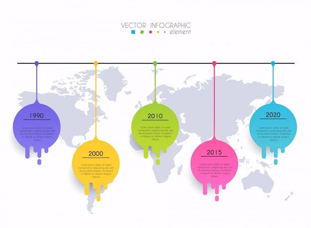 Modelos de design de infográfico de linha do tempo.