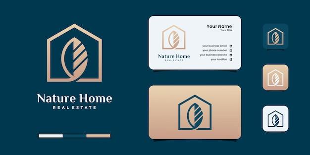 Modelos de design de logotipo de imóveis de luxo e elegantes.