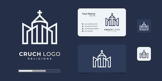 Modelos de design de logotipo em casa e na igreja.