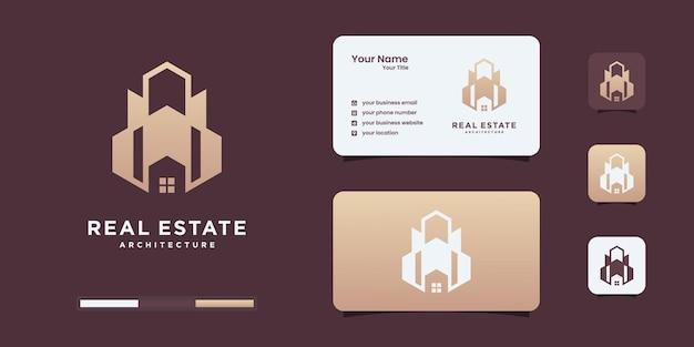 Modelos de design de logotipo imobiliário moderno. edifício de luxo, construção, inspiração de logotipo de arquitetura.