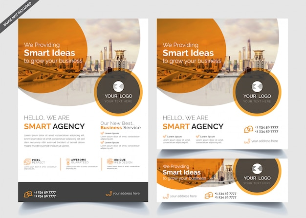 Modelos de design de negócios de banners e folhetos