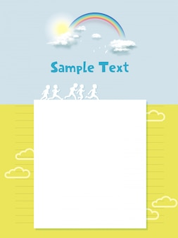 Modelos de design de página da web para crianças felizes, esporte de crianças, natureza e vida saudável.
