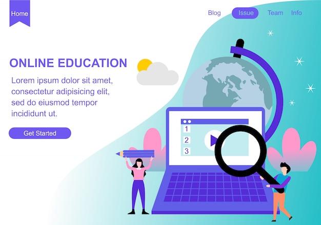 Modelos de design de página da web para educação