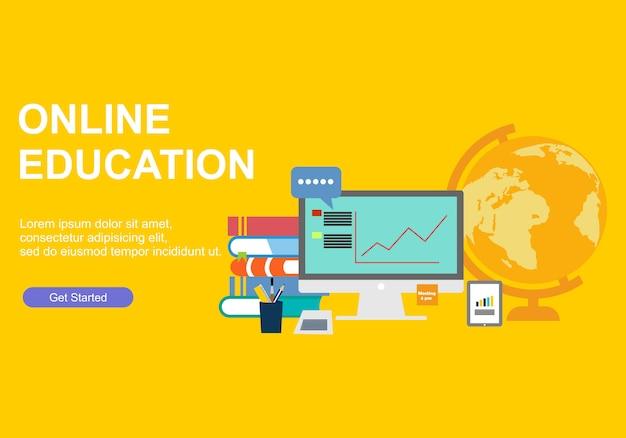 Modelos de design de página da web para treinamento on-line
