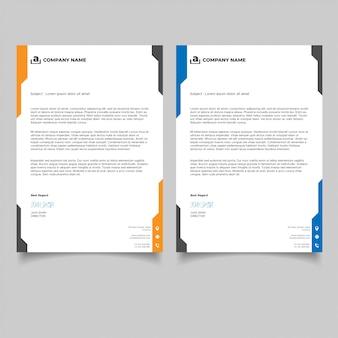 Modelos de design de papel timbrado de negócios simples