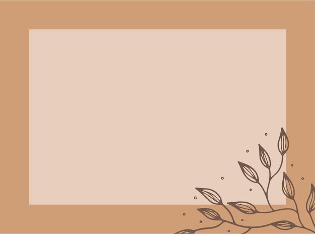 Modelos de design de vetor em estilo simples e moderno com espaço de cópia para texto, flores e folhas - fundos e molduras de convites de casamento, papéis de parede de histórias de mídia social