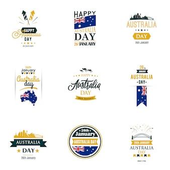 Modelos de design definidos para o dia da austrália