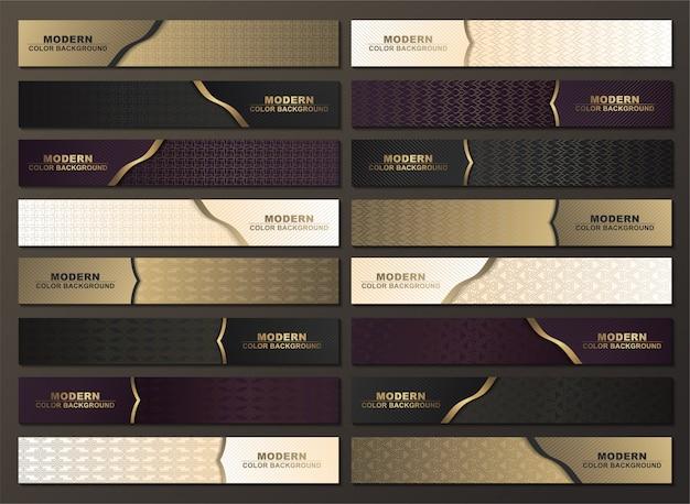 Modelos de design ou cabeçalho de banner da web de luxo