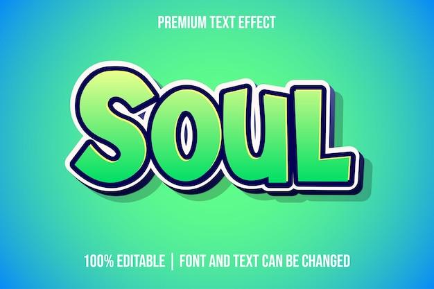 Modelos de efeitos de texto 3d editáveis do soul