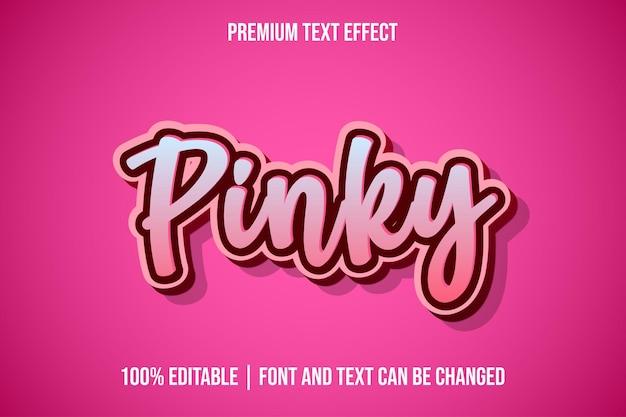 Modelos de efeitos de texto 3d editáveis pinky