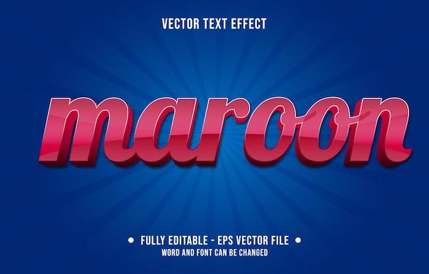 Modelos de efeitos de texto editáveis, cor gradiente marrom vermelho, estilo moderno