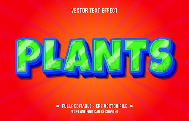 Modelos de efeitos de texto editáveis, estilo moderno de cor gradiente verde e azul