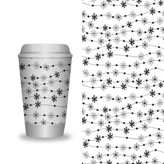 Modelos de embalagens de café e elementos de design para cafés