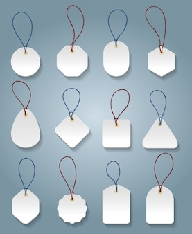 Modelos de etiqueta de preço branca