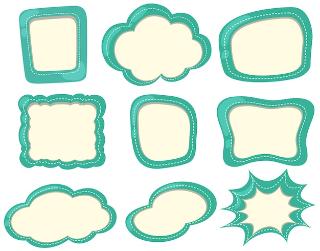 Modelos de etiquetas em cor verde
