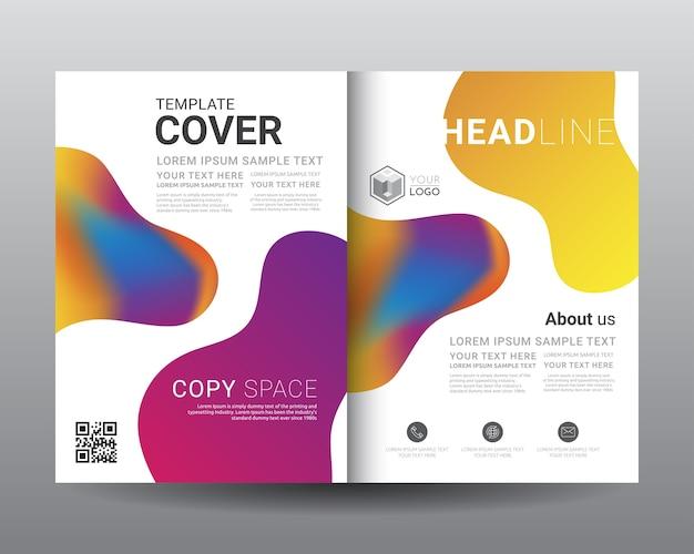 Modelos de folheto de negócios bi-fold
