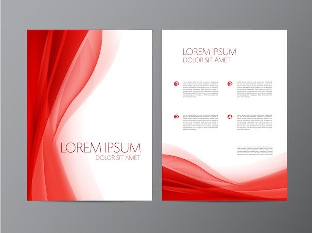 Modelos de folheto de panfleto moderno de vetor abstrato com fundo triangular geométrico