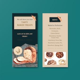 Modelos de folheto para vendas de padaria