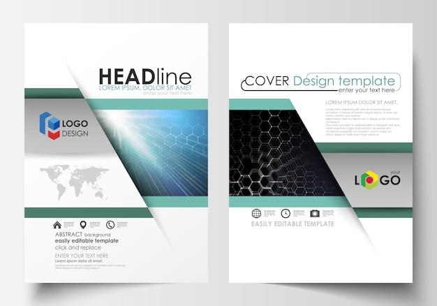 Modelos de folheto, revista, folheto ou relatório.
