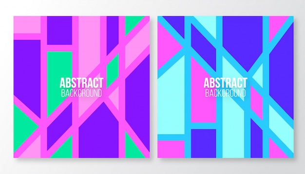 Modelos de formas diferentes abstratas criativas