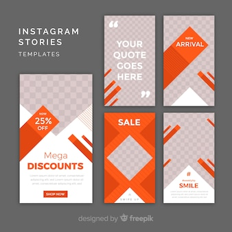 Modelos de histórias do instagram com moldura vazia