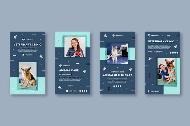 Modelos de histórias veterinárias do instagram