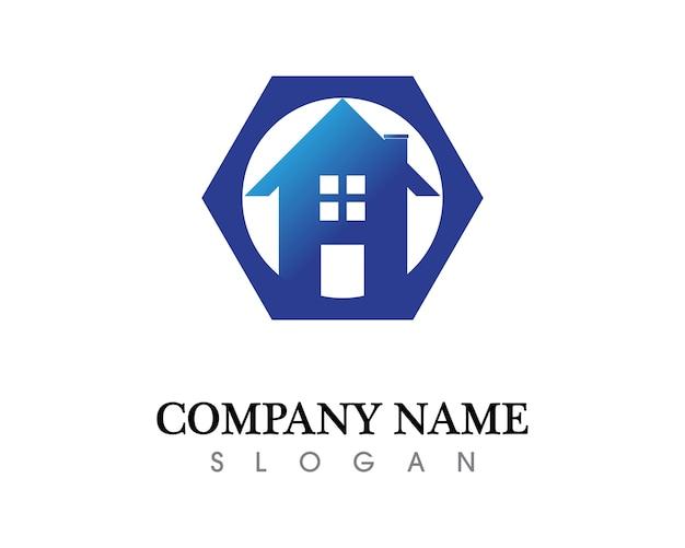 Modelos de ícones de logotipos imobiliários e residenciais