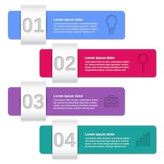 Modelos de infográfico 4 etapas,