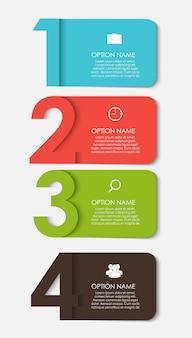 Modelos de infográfico para ilustração de negócios