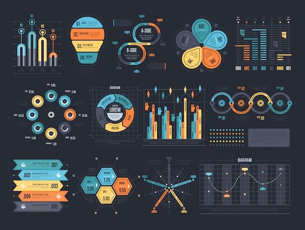 Modelos de infográfico para informações organizadas