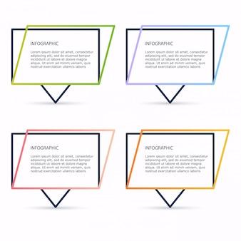 Modelos de infográfico para negócios. pode ser usado para o layout do site, banners numerados, diagrama.