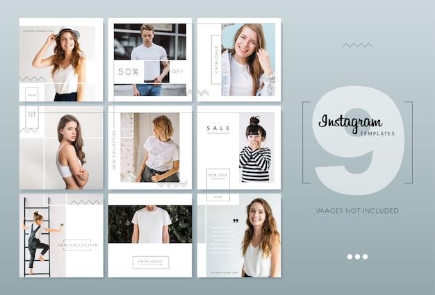 Modelos de instagram brancos minimalistas delicados