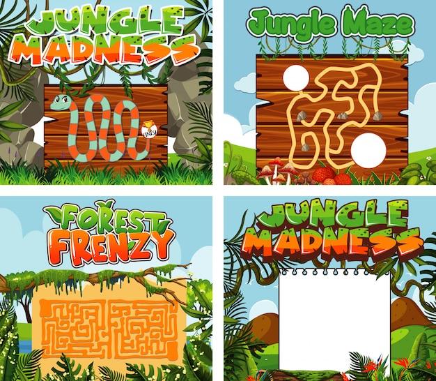 Modelos de jogos com grama verde