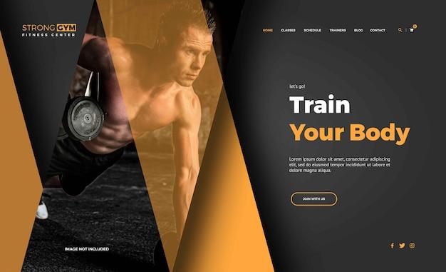 Modelos de landing page de fitness