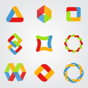 Modelos de logotipo coloridos