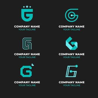 Modelos de logotipo criativo com letra g