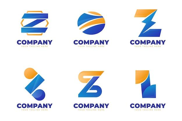 Modelos de logotipo criativo da letra z