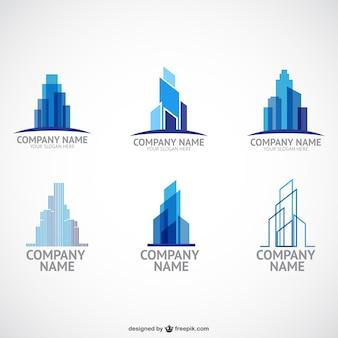 Modelos de logotipo da empresa de construção