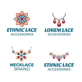 Modelos de logotipo de acessórios de moda simples