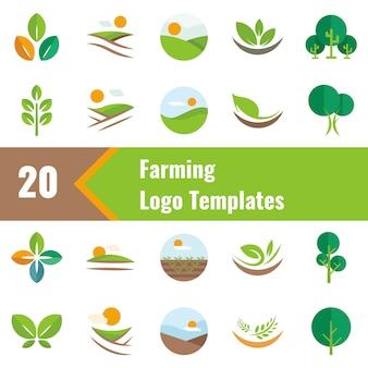 Modelos de logotipo de agricultura