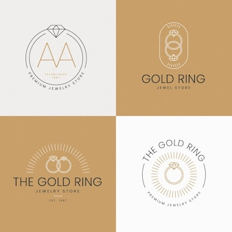 Modelos de logotipo de anel plano