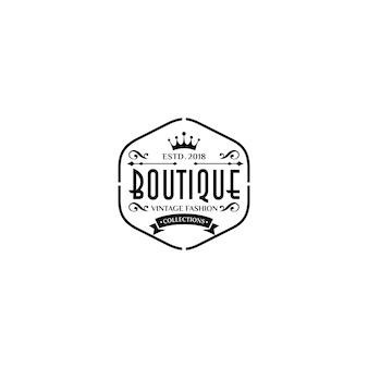 Modelos de logotipo de boutique de luxo