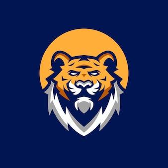 Modelos de logotipo de cabeça de tigre