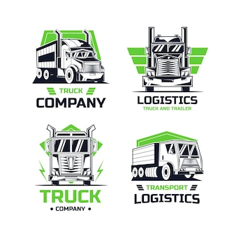 Modelos de logotipo de caminhão criativo
