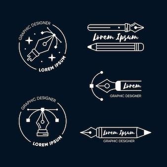 Modelos de logotipo de designer gráfico